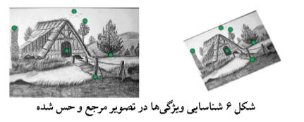 شناسایی ویژگی ها در تصویر مرجع و حس شده